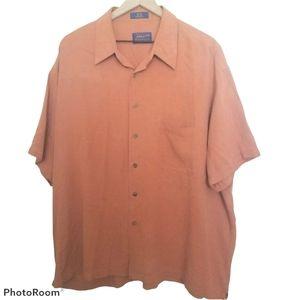Pendleton 100% Silk Shirt Button Up Lt.Rust XXL